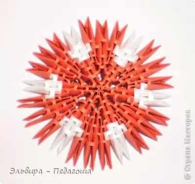 Модульное оригами «Мухоморчик»
