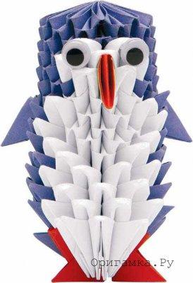 Оригами из модулей пингвин схема фото 929