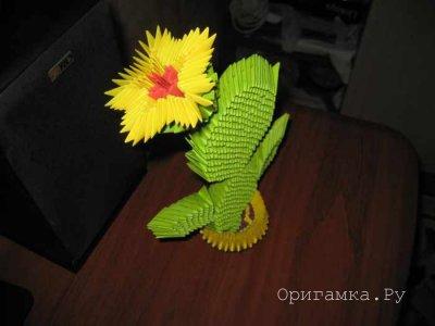 Модульное оригами «Кактус в