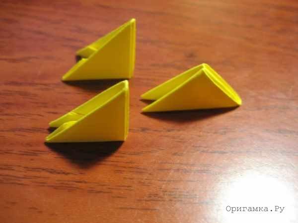 Модульное оригами цыпленок схема сборки фото 271