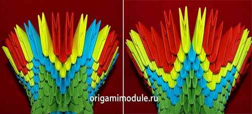 Модульное оригами. Подставка под телефон. Мастер-класс