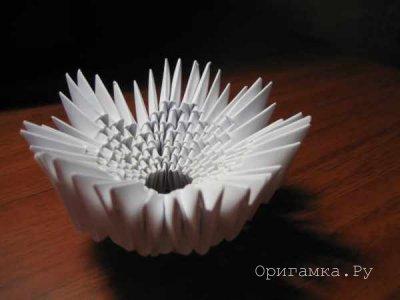 Модульное оригами цыпленок в скорлупе