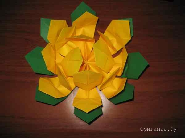 Лилия оригами со схемами