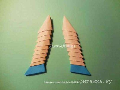 Модульное оригами для детей «Человечек»