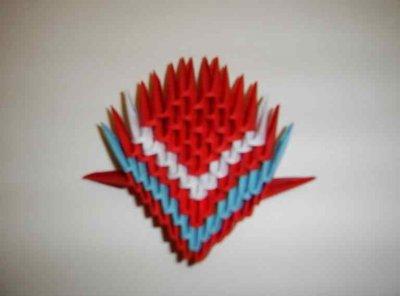Жар-птица модульное оригами. Мастер-класс