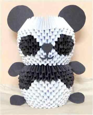 3d панда из треугольных модулей.