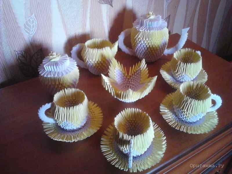 Модульное оригами чайный
