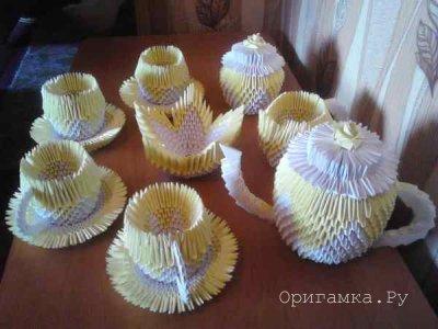 Чайный сервиз из модулей - автор Сергей Саквенков