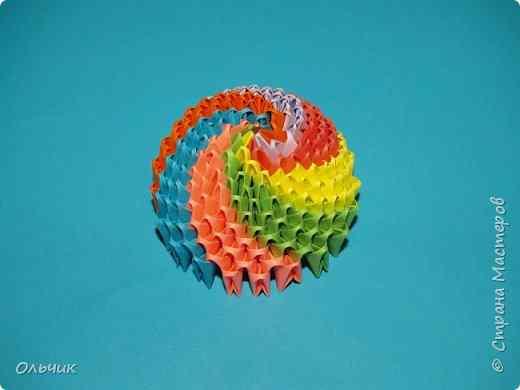 Модульное оригами как сделать шарик