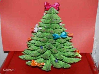 Как сделать елку из оригами своими руками