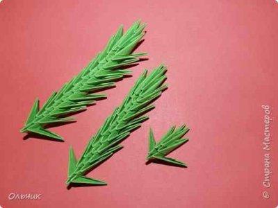 Елка из модулей оригами