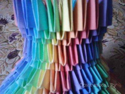 Модульное оригами «Радужная ваза» - автор Сергей Саквенков