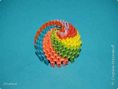 Новогодний шарик из модулей