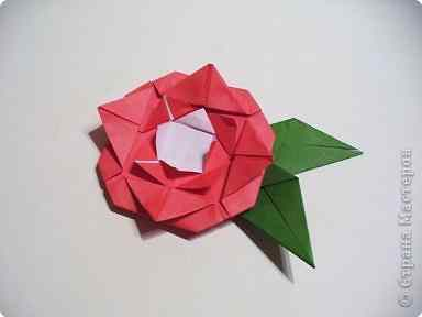 Роза оригами простая схема сборки