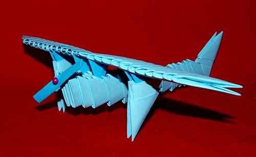 Схема оригами модульное самолёт