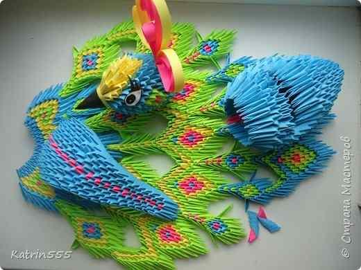 Оригами жар птица схема сборки фото 41