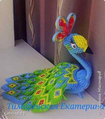 Оригами животные модули