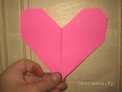 Сердце оригами. Мастер класс по оригами для детей