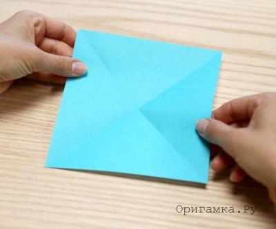 Как сделать бумажного журавлика из бумаги