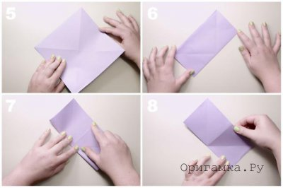 Простая лилия из бумаги.
