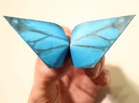 Бабочка с хлопающими крыльями