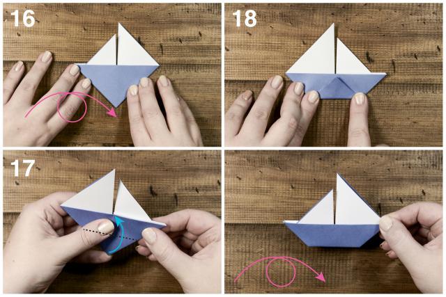 Как сделать лодочку оригами видео