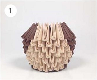 Обезьяна в технике модульного оригами