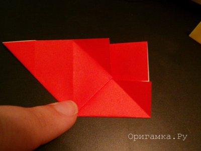 Модульное оригами «Цепочка из открытых кубиков»