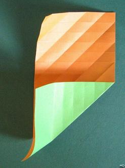 Гусеница оригами