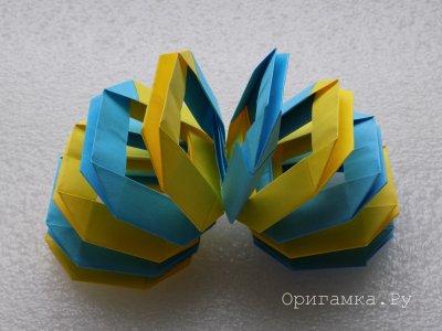 Пружинка-оригами
