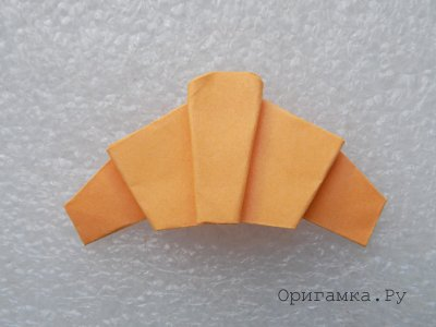 Круассан в технике оригами