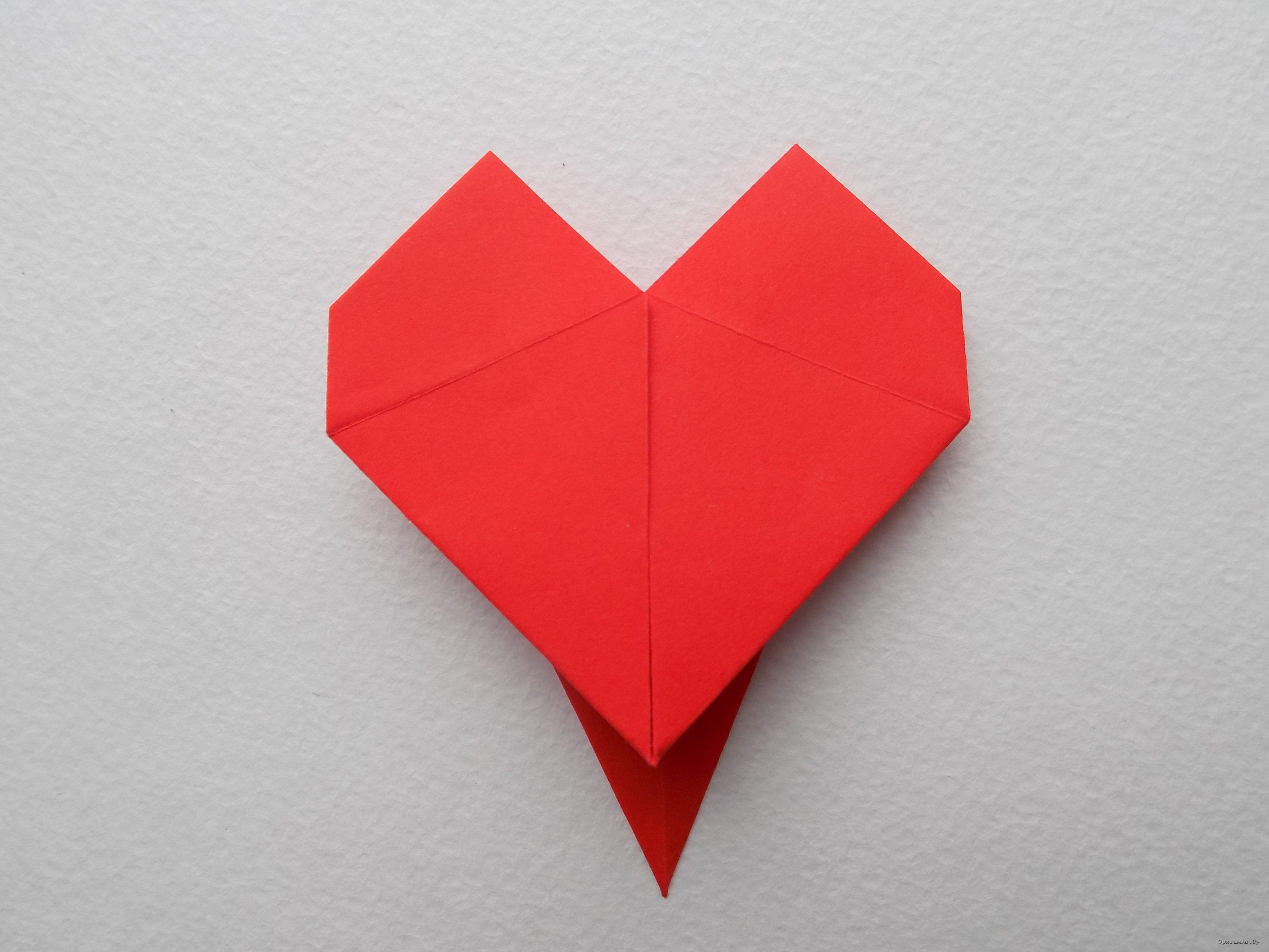 Днем рождения, картинки оригами сердце